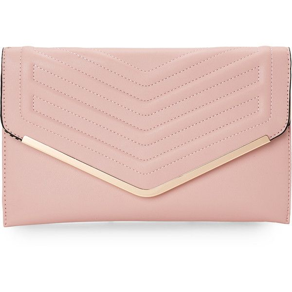 Sasha Pink Quilted Envelope Clutch 22 Liked On Polyvore Featuring Bags Handbags Clutches Clutc