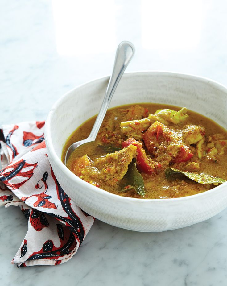 One of Janet DeNeefe's Signature Dishes Kintamani fish soup, made with turmeric, lemongrass, lime leaves, galangal and chili.