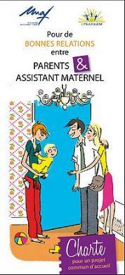 Couverture de la charte pour de bonnes relations entre parents et assistantes maternelles