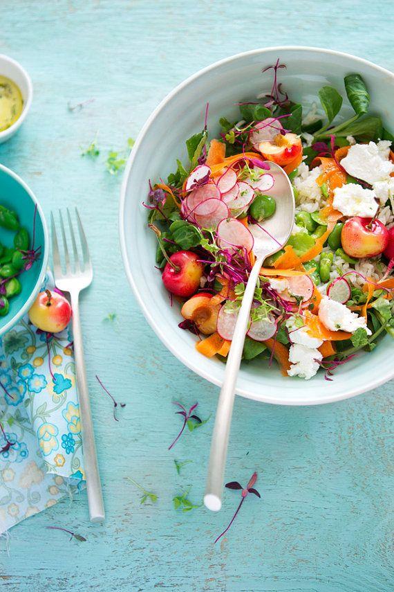 Spring Salad Healthy Vegetarian Food : #vegetarian #healthy #food #foodporn #salad #lunch