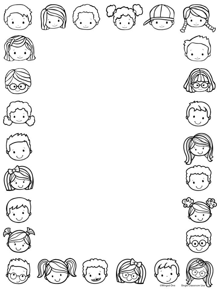 Editable Kid Stationery for Classroom Use ~ in color and in black line $
