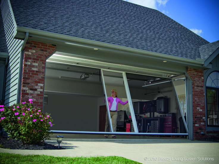 Garage door screen | Breezy Living Garage Door Screens I lov this NO bugs or flys great idea