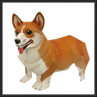 Canon Papercraft: Animals Paper Model - Welsh Corgi Pembroke Dog free download