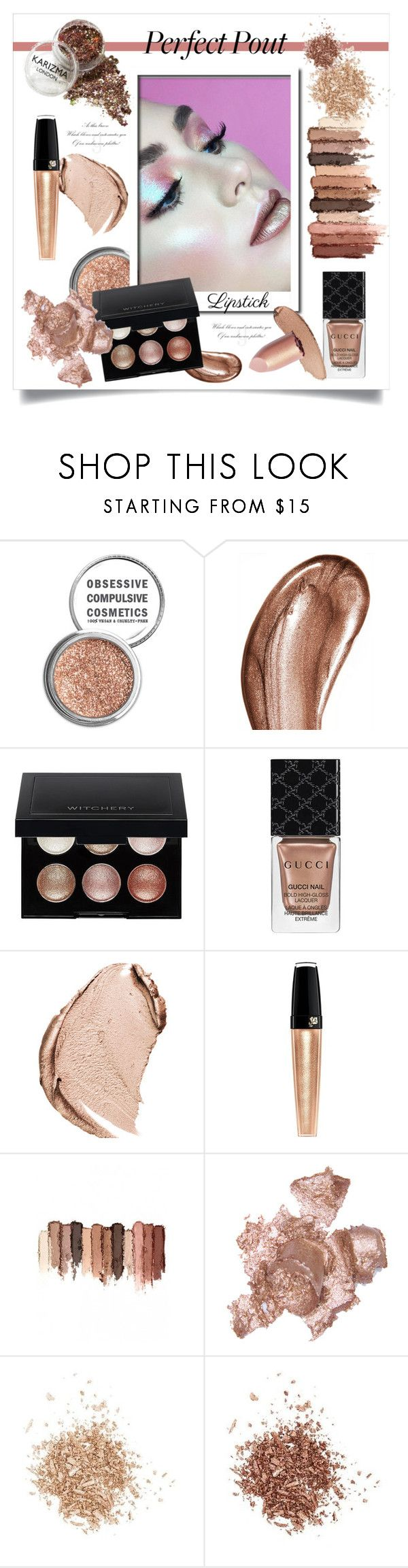 """Высокий Блеск: Металлик Помада!"" by miss-image ❤ liked on Polyvore featuring beauty, Obsessive Compulsive Cosmetics, Laura Mercier, Witchery, Gucci, Christian Dior, tarte, By Terry and Topshop"