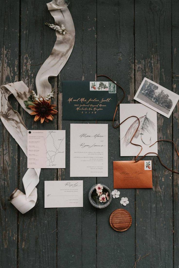 Cosy New Hampshire weekend Away wedding shoot via Magnolia Rouge