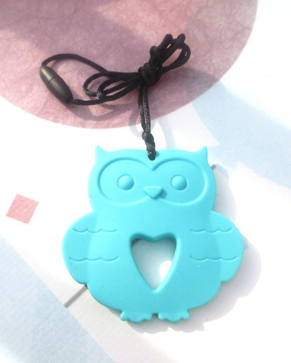 Owl Food Grade Silicone Necklace Teething Necklace Silicone Teething
