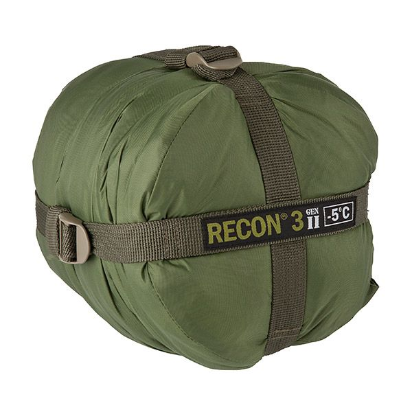 Recon 3 - military 2 season sleeping bag: ultra compact, lightweight and has a lining inside that would allow you to wear boots within the bag without wrecking the interior. (http://www.elitesurvival.com/sleeping-bags/recon-3-sleeping-bag/)