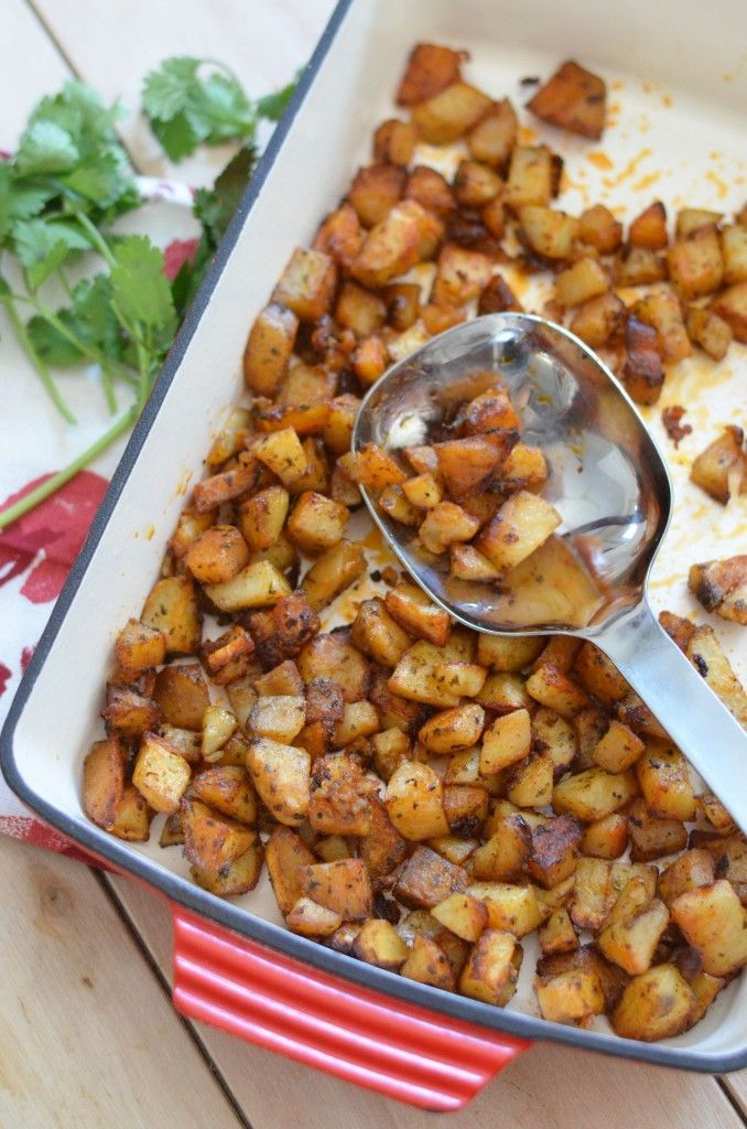 Our Favorite Roasted Potatoes. Just chop, season and bake. Versatile dish great for breakfast or dinner. Easily reheated.