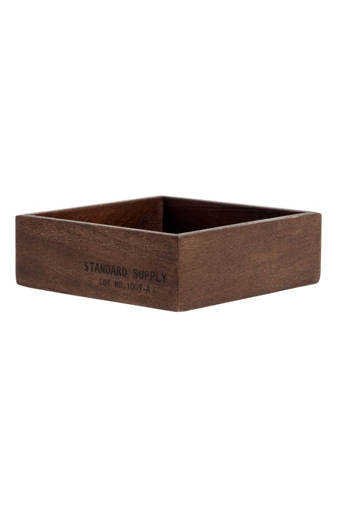 Small wooden tray - Dark wood - Home All | H&M CA 1