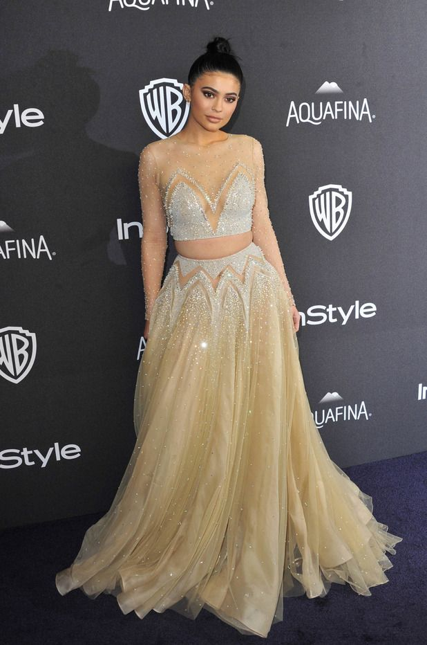Keeping Up With The Kardashians star Kylie Jenner at the InStyle and Warner Bros Golden Globes Awards in Los Angeles, 11th January 2016