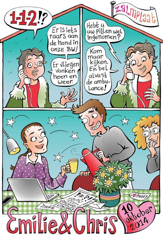 Een origineel huwelijkskado? Geef een cartoon!