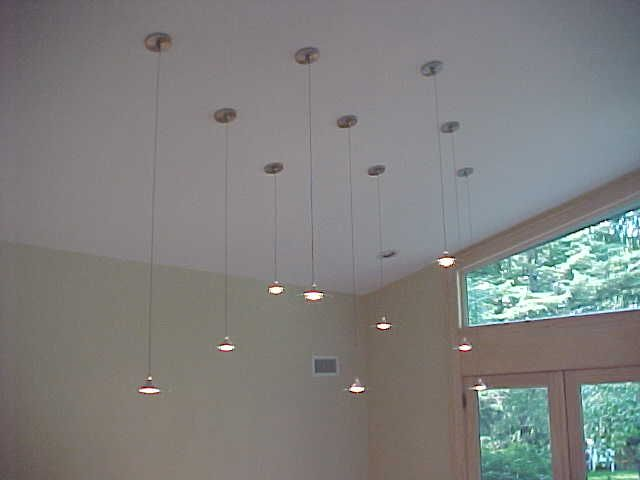 Light Fixtures For Vaulted Ceilings Used Are Tech