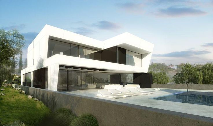 Grandes ventanales...: Inspiration, Casa Ideal, A Cero Tech, Architecture