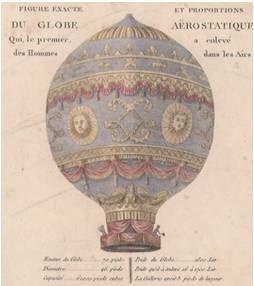 El globo aerostático fue inventado 4 de junio de 1783 en Francia  por dos hermanos llamados Joseph y Jacques Montgolfier.   Después de varios experimentos,  los hermanos comprendieron que el aire caliente es más liviano que el frío, por lo que tiende a subir. Decidieron crear una máquina que permitiera volar con este principio y   lo volverían a intentar en Versalles y ante el Rey Luis XVI.  Esta imágen se convirtió en uno de los iconos y símbolos  del vuelo en globo en todo el mundo…