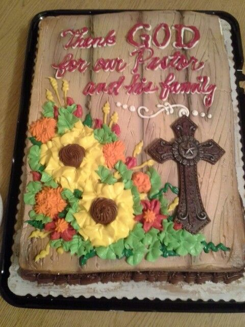 My Sister Made This Awesome Cake For Pastor Appreciation Month
