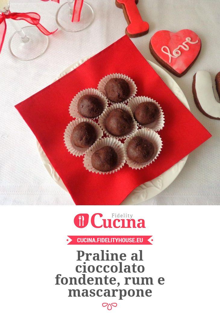 Praline al cioccolato fondente, rum e mascarpone
