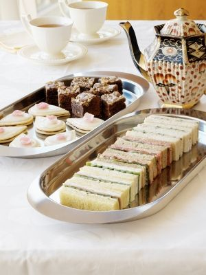 English tea sandwiches are the established mainstay of afternoon tea, ...
