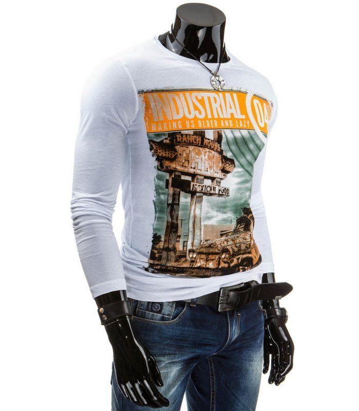 Štýlové tričko s dlhým rukávom. Mäkká, elastická tkanina. Jednoduché pohodlné nosenie. Najnovší trend v pánskom oblečení, ideálne na každodenné nosenie. Zloženie: 100 % bavlna .