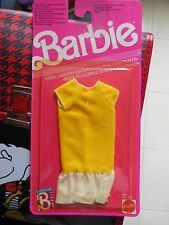 Vestito Barbie Moda Piu' Fashion Finds 1989 Giallo Mattel x Collezione Dress