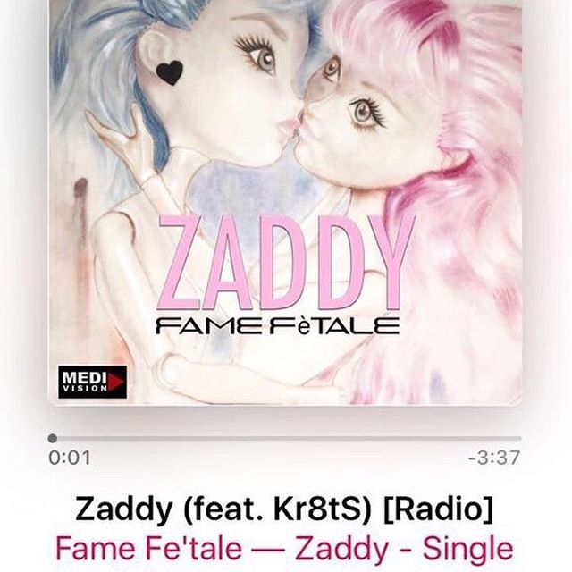 Music album cover I made last summer ! Dope song #zaddy  #famefetale #music #lgbtq #love #dolls #itunes #trap