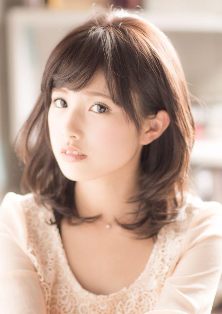 ラベンダーグレーベージュ|U-REALM|表参道・原宿・青山の美容室  Asian look,  lavender beige medium length hairstyle by U-REALM beauty salon, Harajuku, Japan, Hair Stylist: Shingo Kawada
