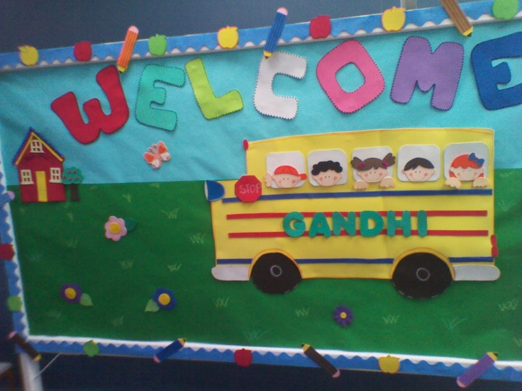 I made this bulletin board to welcome students to the new school year.