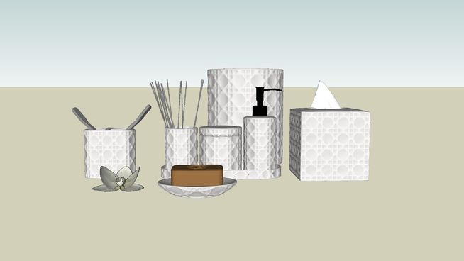 Large preview of 3D Model of Bathroom kit