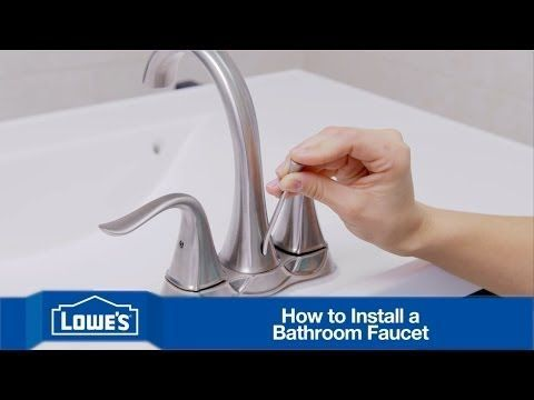 Bathroom faucet installation can be complicated, but Lowe's makes it easy with this video on how to change a faucet in your bathroom. For complete details an...