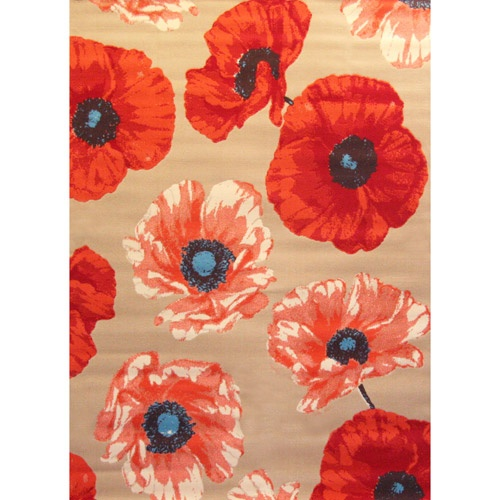 Poppies!  And in rug form!  Yes, definitely a good idea for some room… any roo