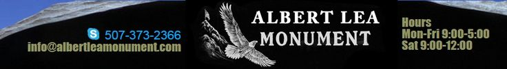 Albert Lea Monument is the oldest locally owned Monument Company in Southern Minnesota and Northern Iowa, serving the area since 1877. When you choose an Albert Lea Monument memorial you are assured of true quality and complete satisfaction. That promise is why Albert Lea Monument is one of the leading memorial suppliers.  http://www.albertleamonument.com/