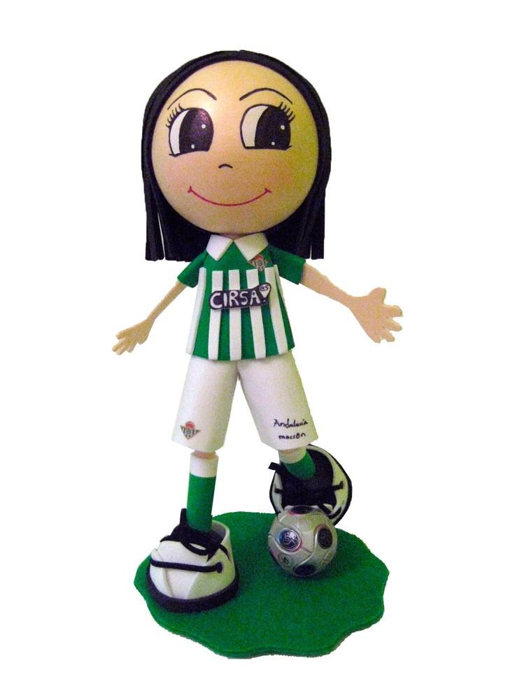 Fofucho jugador Real Betis Temporada 2011/2012 de apróximadamente 25cm de altura.  Disponible también en 35cm y 50cm de altura.  Regalo ideal para los aficionados béticos. Personaliza  a tu fofucho con tu jugardor verdiblanco favorito.