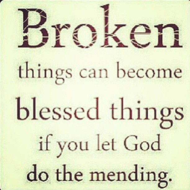 We don't have to walk in brokenness <3