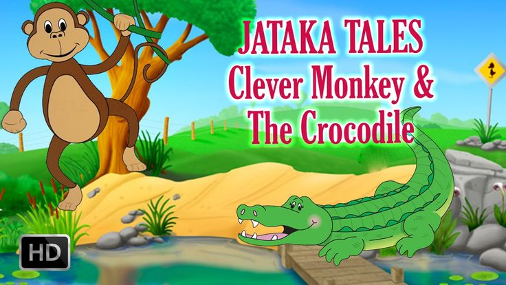 The Clever Monkey and The Crocodile - Short Stories for Children - Jatak...