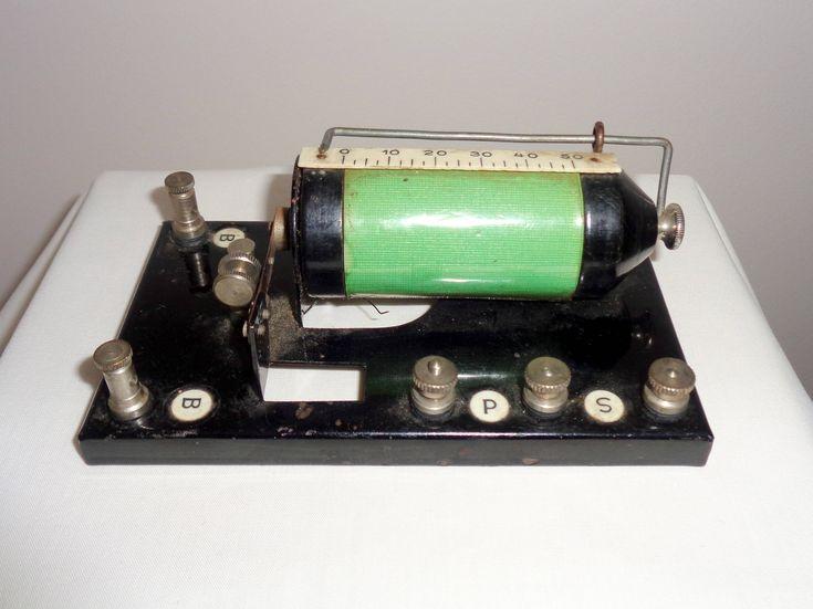 1920s German Spark Gap Transmitter Induction Coil: Display Purposes Only! Early Radio Transmission http://etsy.me/2FjSJIa #funken #medicine #morsecode #quackmedicine #radiotransmission #ruhmkorffcoil #sparkcoil #vintageelectronics #sparkgap