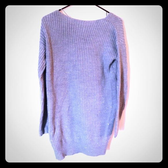 """Grey sweater dress In new condition. Grey with silver accents. I'm 5'2"""" and it hits below my knees. a.n.a Dresses"""