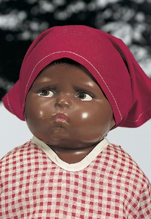 I grew up in the 50's and we had a wonderful black lady, Annie, who kept us a lot. I loved her like my own Momma! And I wanted black baby dolls...there weren't nearly as many black baby dolls as  white. But my Mother found me some. One was a lot like this one. I wish I still had it! So sweet!