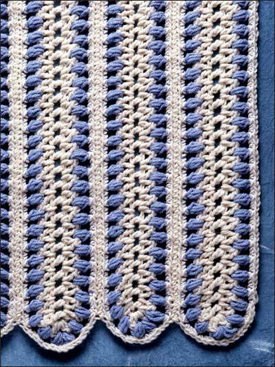 Crochet Afghans - Assorted Crochet Afghan Patterns - Blue Mile Crochet Afghan Pattern -- Free Crochet Pattern ༺✿ƬⱤღ  https://www.pinterest.com/teretegui/✿༻