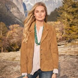 Our 'Most Wanted' goat suede jacket is a chic and easy piece that enhances any look.