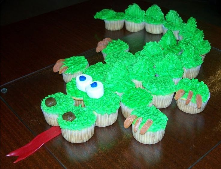 Dragon Cupcakes Cake -- one day I want to be the cool mom who bakes the fun birthday treats