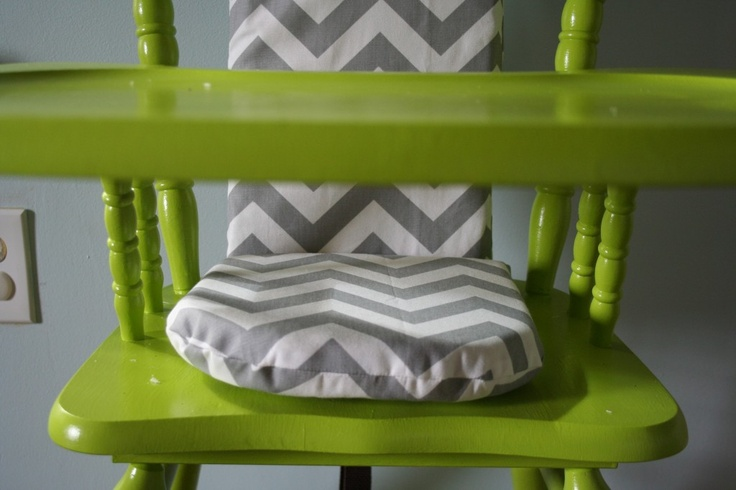 green diy painted highchair makeover!