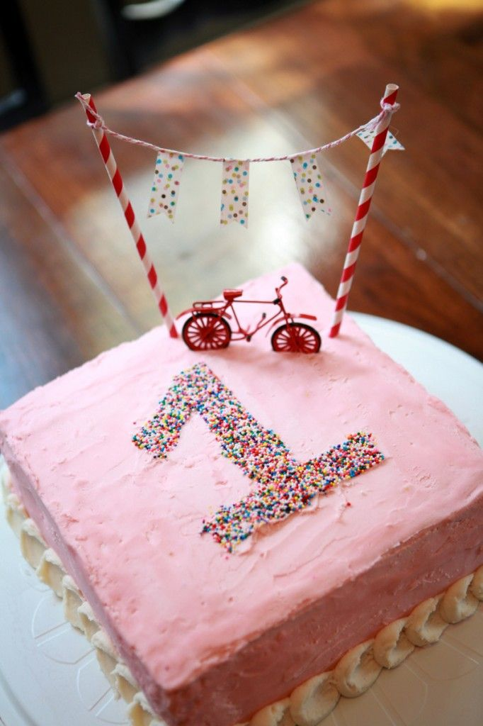 simple bike cake idea