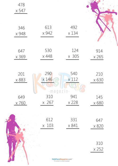 107 best Multiplication Practice Worksheets Bundles images on – Create Multiplication Worksheet