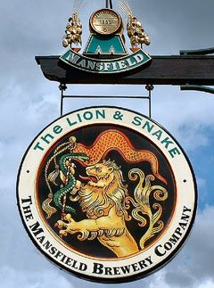 The Lion  Snake...The Mansfield Brewing Company... England