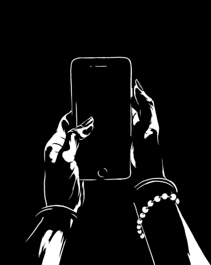 Картинки с анимация черно белые