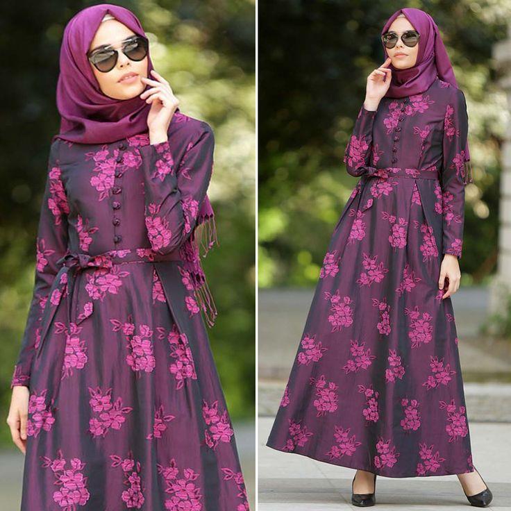 ARAMISS - DRESS - 7055F #hijab #naylavip #hijabi #hijabfashion #hijabstyle #hijabpress #muslimabaya #islamiccoat #scarf #fashion #turkishdress #clothing #eveningdresses #dailydresses #tunic #vest #skirt #hijabtrends