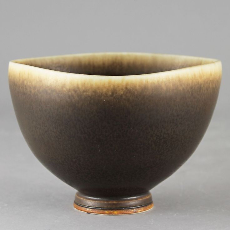 Berndt Friberg (1969) Unique Brown Haresfur Bowl