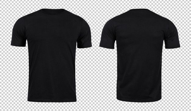Download Black Tshirts Mockup Front And Back Plain Black T Shirt Black Collared Shirt Polo Shirt Design