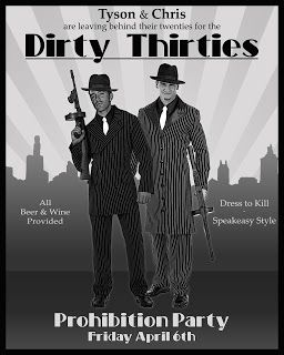 Speakeasy Style Prohibition Party - Dirty Thirty. This is what I want for my 30th Birthday!!!!!!!!