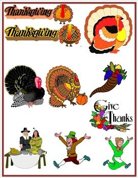 Thanksgiving Clip art {FREE}
