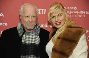 """Richard Dreyfuss, a cast member in """"Zipper,"""" poses with his wife Svetlana Erokhin at the premiere of the film at the Eccles Theatre during the 2015 Sundance Film Festival on Tuesday, Jan. 27, 2015, in Park City, Utah. (Photo by Chris Pizzello/Invision/AP) (Chris Pizzello, Chris Pizzello/Invision/AP)"""